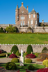 View of Drummond Castle Garden in the autumn in Crieff, Scotland, UK