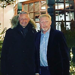 """Boris Becker releases a photo on Instagram with the following caption: """"Die Legende der Hockeyspieler hat Geburtstag \ud83c\udf81!!! Wie alt du wirst verraten wir nicht ... Herzlichen Gl\u00fcckwunsch \ud83c\udf89\ud83c\udf8a\ud83c\udf7e @stefanbloecherofficial"""". Photo Credit: Instagram *** No USA Distribution *** For Editorial Use Only *** Not to be Published in Books or Photo Books ***  Please note: Fees charged by the agency are for the agency's services only, and do not, nor are they intended to, convey to the user any ownership of Copyright or License in the material. The agency does not claim any ownership including but not limited to Copyright or License in the attached material. By publishing this material you expressly agree to indemnify and to hold the agency and its directors, shareholders and employees harmless from any loss, claims, damages, demands, expenses (including legal fees), or any causes of action or allegation against the agency arising out of or connected in any way with publication of the material."""