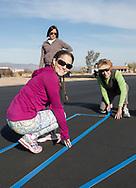 Air marking with Phoenix 99s at Eagle Nest in Aguila, AZ on February 10, 2018.<br /> <br /> Courtney Smith, Felecia Zahn &amp; Judy Yerian