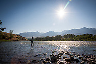 Diana Abbott '18, Fly fishing guide, Yellowstone River. Colby-Sawyer College Alumni Magazine, Internships.