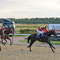 Ebony Roc and Sean Levery winning the 7.10 race