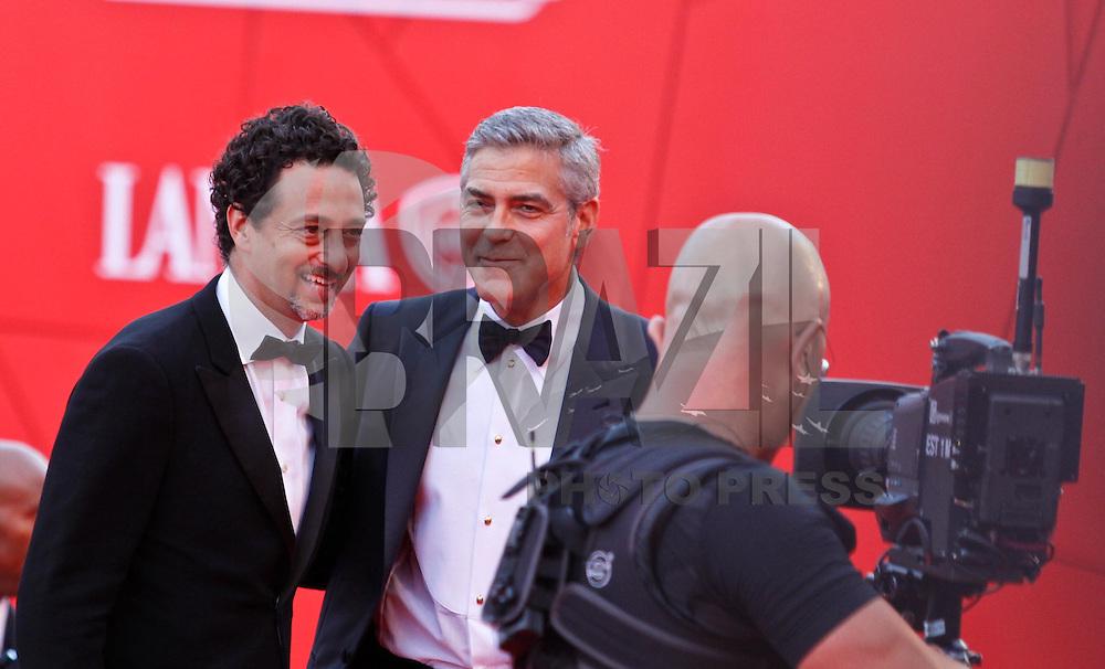 VENEZA, ITALIA, 31 DE AGOSTO 2011 - 68 FESTIVAL DE CINEMA EM VENEZA - George Clooney durante o Red Carpet no 68 Festival Internacional de Cinema em Veneza na Italia. FOTO: VANESSA CARVALHO - NEWS FREE.