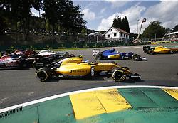 August 28, 2016 - Spa Francorchamps, Belgium - Motorsports: FIA Formula One World Championship 2016, Grand Prix of Belgium, .#30 Jolyon Palmer (GBR, Renault Sport Formula 1 Team), #55 Carlos Sainz Junior (ESP, Scuderia Toro Rosso), #21 Esteban Gutierrez (MEX, Haas F1 Team), #12 Felipe Nasr (BRA, Sauber F1 Team), #20 Kevin Magnussen (DEN, Renault Sport Formula 1 Team) (Credit Image: © Hoch Zwei via ZUMA Wire)