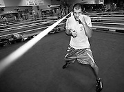Sergei Kovalev training feature in Big  Bear, California, USA. March 2012