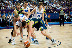 Erik Murphy of Finland vs Gasper Vidmar of Slovenia during basketball match between National Teams of Finland and Slovenia at Day 3 of the FIBA EuroBasket 2017 at Hartwall Arena in Helsinki, Finland on September 2, 2017. Photo by Vid Ponikvar / Sportida