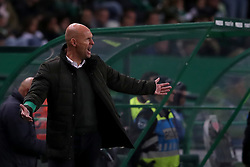 February 3, 2019 - Lisbon, Portugal - Sporting's head coach Marcel Keizer from Netherlands  reacts during the Portuguese League football match Sporting CP vs SL Benfica at Alvalade stadium in Lisbon, Portugal on February 3, 2019. (Credit Image: © Pedro Fiuza/ZUMA Wire)
