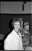 "07/02/1964<br /> 02/07/1964<br /> 07 February 1964<br /> Erin Foods Reception for launch of ""Redichips"" at the Sybaris Club, Abbey Street, Dublin. Picture shows Miss Margaret Scott, (Ballyforan, Ballinasloe) Laboratory Technician, Erin Foods Tuam Factory of the Irish Sugar Co., demonstrating the new product at the launch."