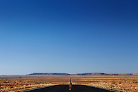 Empty road in desert USA