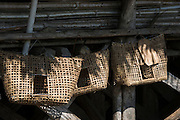 Chicken coops<br /> Adi Gallong Tribe<br /> Arunachal Pradesh<br /> North East India
