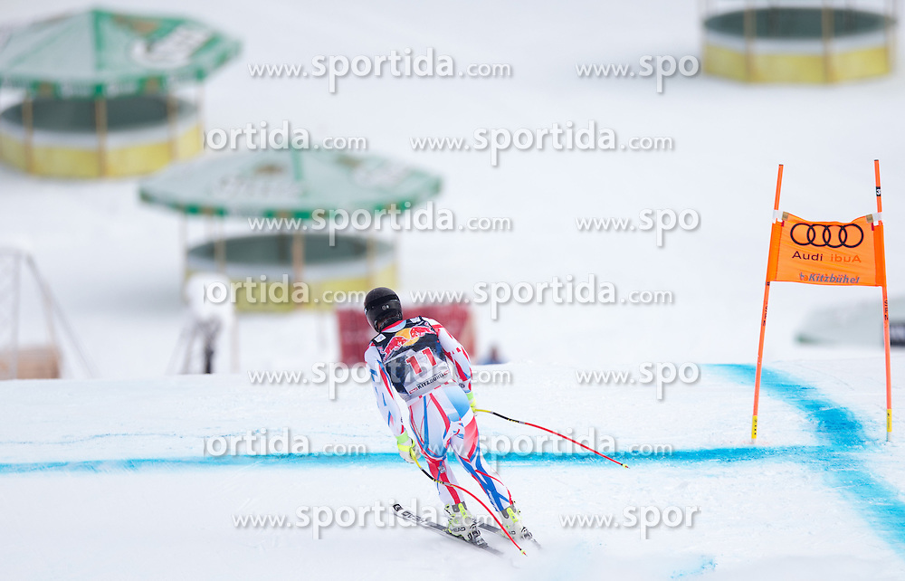19.01.2016, Streif, Kitzbuehel, AUT, FIS Weltcup Ski Alpin, Kitzbuehel, 1. Abfahrtstraining, Herren, im Bild Guillermo Fayed (FRA) // Guillermo Fayed of France in action during 1st Training of the men's Downhill Race of Kitzbuehel FIS Ski Alpine World Cup at the Streif in Kitzbuehel, Austria on 2016/01/19. EXPA Pictures © 2016, PhotoCredit: EXPA/ Johann Groder