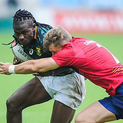 Seabelo Senatla of South Africa  during match between South Africa and Scotland at the HSBC Paris Sevens, stage of the Rugby Sevens World Series at Stade Jean Bouin on June 9, 2018 in Paris, France. (Photo by Sandra Ruhaut/Icon Sport)