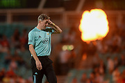 Rikki Clarke of Surrey during the NatWest T20 Blast South Group match between Surrey County Cricket Club and Warwickshire County Cricket Club at the Kia Oval, Kennington, United Kingdom on 25 August 2017. Photo by Dave Vokes.