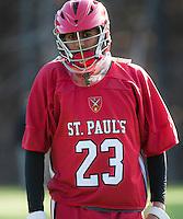 St Paul's School boys varsity lacrosse with St Sebastian's.  Karen Bobotas for St Paul's School