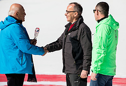 Janez Kocijancic, Rajko Dolinsek, retired journalist of Radio Slovenija and Enzo Smrekar of SZS during Ski Flying Hill Team Competition at Day 3 of FIS Ski Jumping World Cup Final 2016, on March 19, 2016 in Planica, Slovenia. Photo by Vid Ponikvar / Sportida