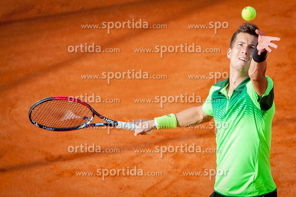 Aljaz Bedene of Slovenia during a tennis match against the Andrej Martin of Slovakia  in 1st round of singles at 25th Vegeta Croatia Open Umag, on July 21, 2014, in Stella Maris, Umag, Croatia. Photo by Urban Urbanc / Sportida