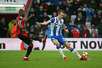 Football - 2017 / 2018 FA Cup - Third Round : AFC Bournemouth vs. Wigan Athletic<br /> <br /> Dan Burn of Wigan Athletic clears from Bournemouth's Benik Afobe at Dean Court (Vitality Stadium) Bournemouth <br /> <br /> COLORSPORT/SHAUN BOGGUST