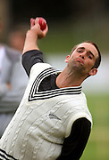 Grant Elliot bowls.<br /> National Bank Test Match Series, New Zealand v England, Black Caps Nets Practice. Allied Prime Basin Reserve, New Zealand. Tuesday, 11 March 2008. Photo: Dave Lintott/PHOTOSPORT