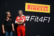 May 25-29, 2016: Monaco Grand Prix. Gene Haas, Haas F1 Team Owner, Maurizio Arrivabene, team principal of Scuderia Ferrari
