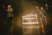 Photos of the Icelandic band GusGus performing live during Sónar Reykjavík music festival at Harpa concert hall in Reykjavík, Iceland. February 13, 2014. Copyright © 2014 Matthew Eisman. All Rights Reserved