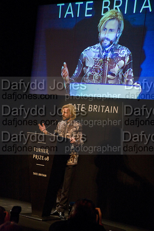 MARK LECKEY, 2008 Turner Prize Award. Tate Millbank. London. 1 December 2008 *** Local Caption *** -DO NOT ARCHIVE -Copyright Photograph by Dafydd Jones. 248 Clapham Rd. London SW9 0PZ. Tel 0207 820 0771. www.dafjones.com