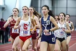 ECAC/IC4A Track and Field Indoor Championships<br /> Mile Run, Briar Brunley, Cornell, Jocelyn Chau, Yale