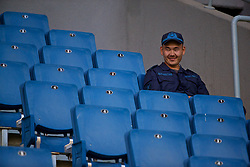 ASTANA, KAZAKHSTAN - Sunday, September 17, 2017: A Kazakhstan army officer before the FIFA Women's World Cup 2019 Qualifying Round Group 1 match between Kazakhstan and Wales at the Astana Arena. (Pic by David Rawcliffe/Propaganda)