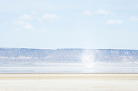 Dust Devil on dry Alvord Lake, a seasonal shallow alkali lake in Harney County, Oregon