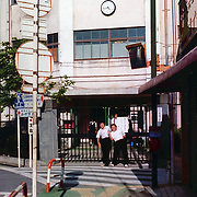 Japanese School Boys outside of tokyo, Japan