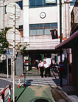 Japanese School Boys outside of tokyo, Japan
