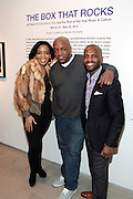 New York, NY- MARCH 10: (L-R) MoCADA Executive Director Laurie Cumbo, Video Music Box Founder Ralph McDaniels and Curator Dexter Wimberly at the Opening Reception of ' THE BOX THAT ROCKS: 30 Years of Video Music Box and the Rise of Hip Hop Music & Culture held at the Museum of Contemporary African Diasporan Arts (MoCADA) on March 10, 2012 in Brooklyn, New York City. (Photo by Terrence Jennings)