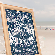 Images from Kendal and Kyle Mohr's Wedding at Folly Beach near Charleston, South Carolina.