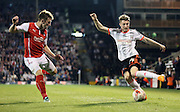 James Husband skill during the Sky Bet Championship match between Fulham and Rotherham United at Craven Cottage, London, England on 15 April 2015. Photo by Matthew Redman.