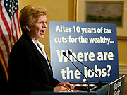Sep 15, 2010 - Washington, District of Columbia, U.S.,  Senator DEBBIE STABENOW, (D-Mich) and Senator Cardin, (D-Md.) hold a news conference discussing Republican threats to raise taxes on middle-class families and small businesses.(Credit Image: © Pete Marovich/ZUMA Press)