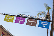Downtown Santa Ana Directional Signage