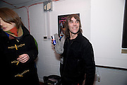 IAN BROWN; STONE ROSES, The Kids are all Riot. Maverick Showroom Redchurch st. London. 9 April 2009<br /> IAN BROWN; STONE ROSES, The Kids are all Riot. Maverick Showroom Redchurch st. London. 9 April 2009 *** Local Caption *** -DO NOT ARCHIVE-© Copyright Photograph by Dafydd Jones. 248 Clapham Rd. London SW9 0PZ. Tel 0207 820 0771. www.dafjones.com.