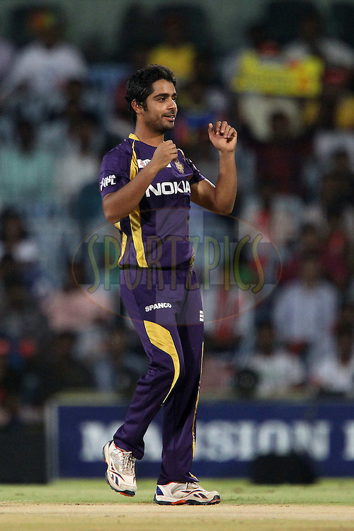 Iqbal Abdulla during match 41 of the the Indian Premier League ( IPL) 2012  between The Chennai Superkings and the Kolkata Knight Riders held at the M. A. Chidambaram Stadium, Chennai on the 30th April 2012..Photo by Ron Gaunt/IPL/SPORTZPICS