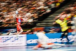 18.01.2020, Wiener Stadthalle, Wien, AUT, EHF Euro 2020, Spanien vs Österreich, Hauptrunde, Gruppe I, im Bild v. l. Sebastian Frimmel (AUT), // f. l. Sebastian Frimmel (AUT) during the EHF 2020 European Handball Championship, main round group I match between Spain and Austria at the Wiener Stadthalle in Wien, Austria on 2020/01/18. EXPA Pictures © 2020, PhotoCredit: EXPA/ Florian Schroetter