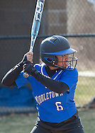 Middletown, New York - Washingtonville plays Middletown in a varsity girls' softball game on April 9, 2014. ©Tom Bushey / The Image Works
