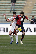 Bari (BA), 13-02-2011 ITALY - Italian Soccer Championship Day 25 - Bari VS Genoa..Pictured: Donati (BA) Mesto (GE).Photo by Giovanni Marino/OTNPhotos . Obligatory Credit