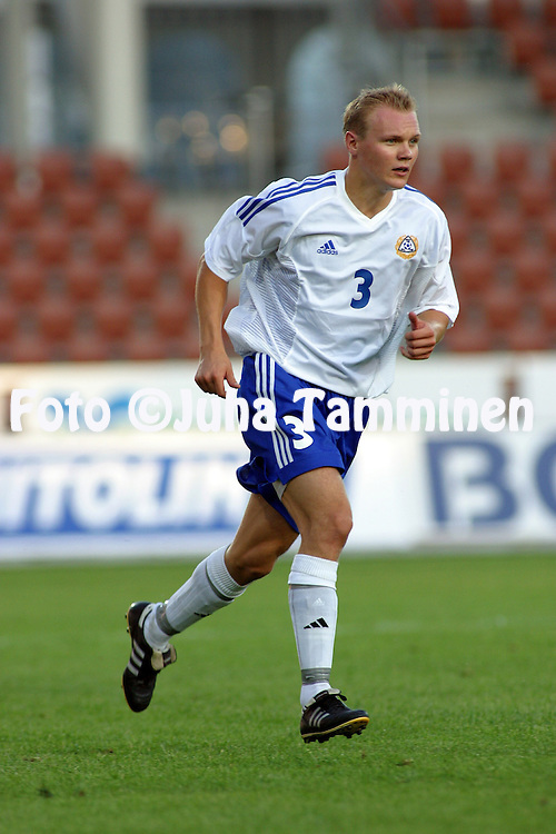20.08.2002, Finnair Stadium, Helsinki, Finland..Under-21 Friendly International Match, Finland v Republic of Ireland.Heikki Pulkkinen - Finland.©Juha Tamminen