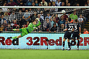Goal - Oli McBurnie (9) of Swansea City scores a goal to make the score 2-1 during the EFL Sky Bet Championship match between Swansea City and Leeds United at the Liberty Stadium, Swansea, Wales on 21 August 2018.