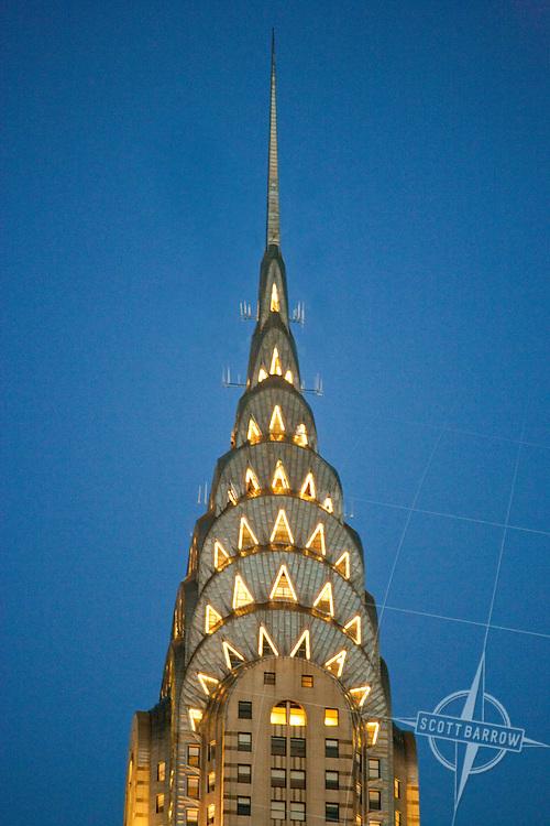 The Chrysler Building in New York City.