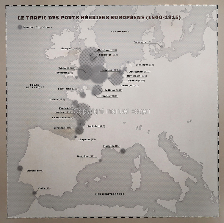 Map Of France Showing Bordeaux.Map Of Slave Trade In Western Europe Musee D Aquitaine Bordeaux