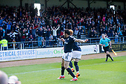 21st April 2018, Dens Park, Dundee, Scotland; Scottish Premier League football, Dundee versus St Johnstone; Sofien Moussa of Dundee celebrates after scoring