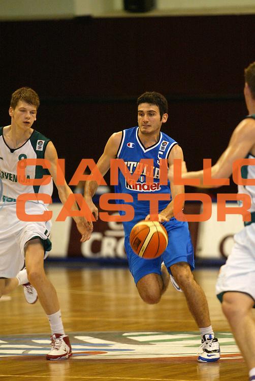 DESCRIZIONE : Izmir Turchia Campionati Europei Under 20 European Championship Under 20 Ostchem<br /> GIOCATORE : Cavallaro<br /> SQUADRA : Italy Italia<br /> EVENTO : Izmir Turchia Campionati Europei Under 20 European Championship Under 20 Ostchem<br /> GARA : Italia Italy Slovenia Slovenija<br /> DATA : 23/07/2006 <br /> CATEGORIA :<br /> SPORT : Pallacanestro <br /> AUTORE : Agenzia Ciamillo-Castoria<br /> Galleria : FIP Nazionale Italiana<br /> Fotonotizia : Izmir Turchia Campionati Europei Under 20 European Championship Under 20 Ostchem<br /> Predefinita :