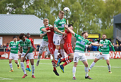 RHOSYMEDRE, WALES - Sunday, May 5, 2019: The New Saints' Jack Bodenham wins a header during the FAW JD Welsh Cup Final between Connah's Quay Nomads and The New Saints at The Rock. (Pic by David Rawcliffe/Propaganda)