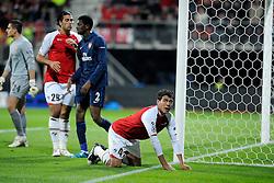 20-10-2009 VOETBAL: AZ - ARSENAL: ALKMAAR<br /> AZ in slotminuut naast Arsenal 1-1 / Grote kans voor Hector Moreno maar mist. <br /> ©2009-WWW.FOTOHOOGENDOORN.NL