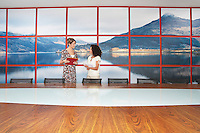 Businesswomen standing Talking in modern Conference Room