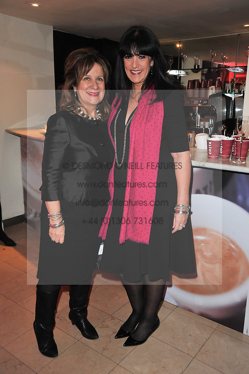 Left to right, BARONESS KENNEDY and GAIL REBUCK at the Costa Book Awards 2010 held at Quaglino's, 16 Bury Street, London on 25th January 2011.