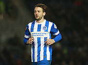 Brighton central midfielder Dale Stephens during the Sky Bet Championship match between Brighton and Hove Albion and Reading at the American Express Community Stadium, Brighton and Hove, England on 15 March 2016. Photo by Bennett Dean.